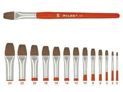 Štětec Milan 121 - plochý lak č.20 - 1