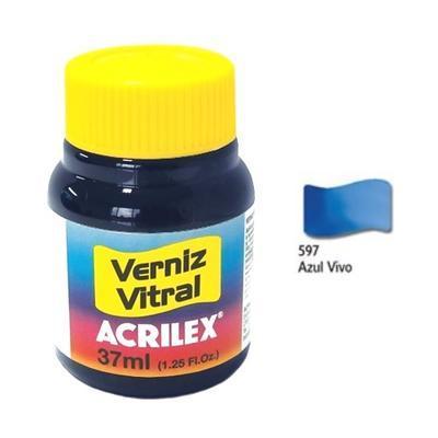 Vitrážová barva ACRILEX 37ml - Live Blue - 1