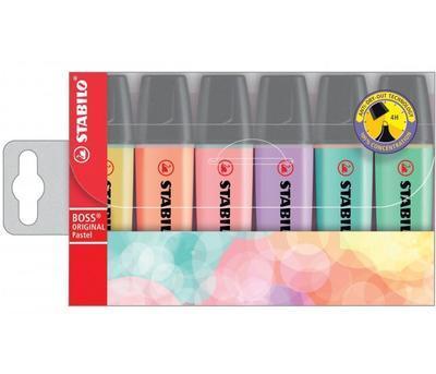 Stabilo Zvýrazňovač BOSS Original - sada 6 pastelových barev - 1