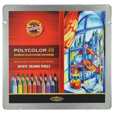 Polycolor Sada pastelek - 48 ks v plechu - 1