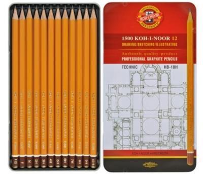 Sada grafitových tužek 1500 TECHNIC - 12ks, HB - 10H - 1