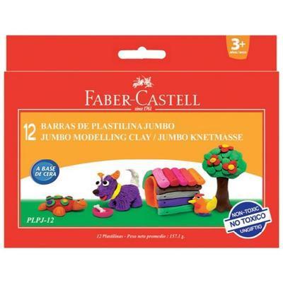 Faber-Castell Modelovací hmota Jumbo - 12 barev, 200g