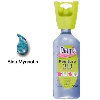 Diam's 3D akrylová barva 37 ml - perleťová jaipurská modrá - 1