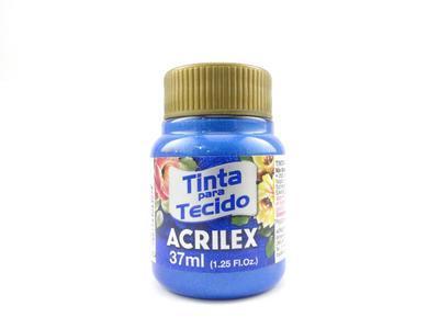 Acrilex Barva na textil 37ml - metalická modrá 559