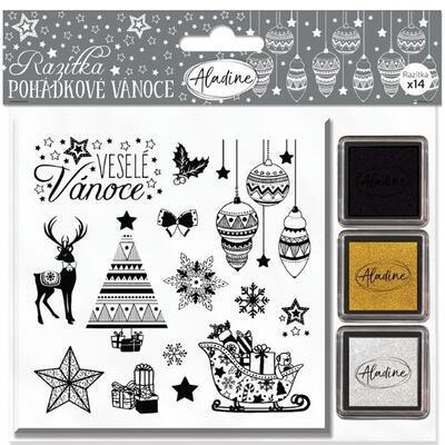 StampoNoël Vánoční razítka včetně inkoustů - Pohádkové Vánoce - 1