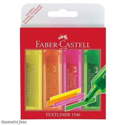 Faber-Castell Zvýrazňovač TEXTLINER 1546 - sada 4 ks