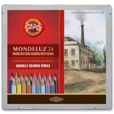 Mondeluz Akvarelové pastelky - Krajina, 24 ks v plechu - 1