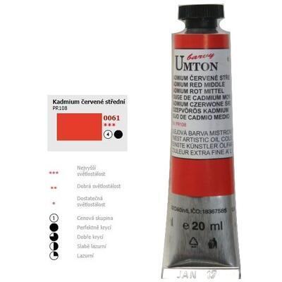 Olejová barva 20ml - Kadmium červené střední/ 4
