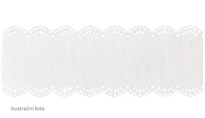 Samolepící krajka délka 2m, šířka 41mm - bílá