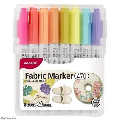 MONAMI 470 - Popisovač na různé textilie, 8 barev - 1