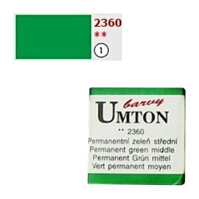 Akvarelová barva 2,6ml - Permanentní zeleň střední - 1