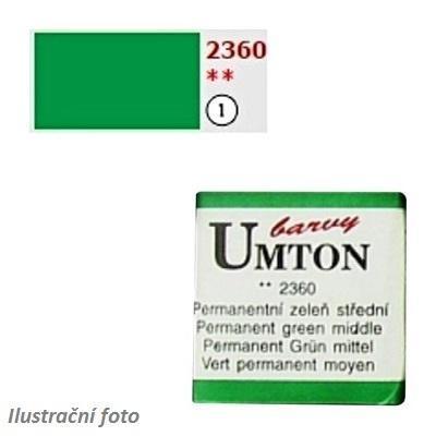 Akvarelová barva 2,6ml - Permanentní zeleň střední/ 1  - 1