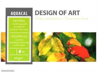 Blok akvarelový Aquacal A3, 250 g/m2, 20 listů