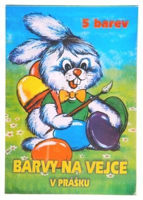 Barvy na vejce v prášku 5 barev