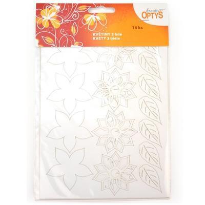 Výřez - Květiny 3 bílé - 1