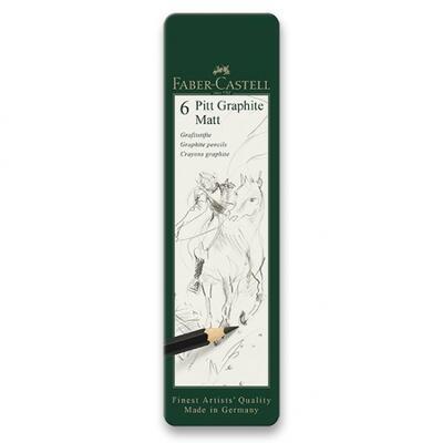 Faber-Castell Grafitová tužka, Pitt Graphite Matt, sada 6 ks - 1