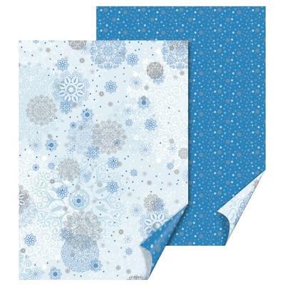 Fotokarton 50x70cm, 300g/m2 - vločky modrý