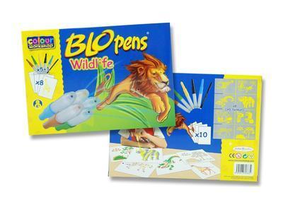 Foukací fixy BLOpens Wildlife na papír Sada 5+1 - 1