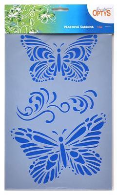 Šablona plastová 30x20cm - Motýli 2 - 1