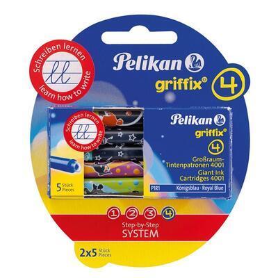 Pelikan Inkoustové bombičky Griffix 4 - královská modrá, 10 ks - 1