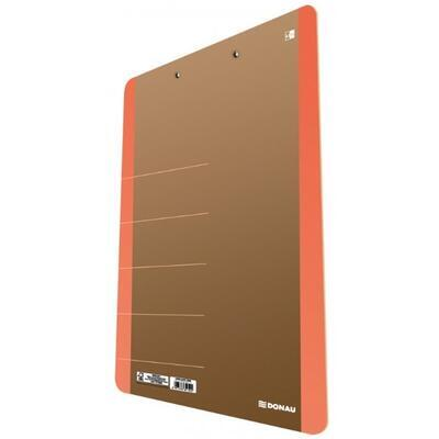 DONAU podložka s klipem, A4 - neon oranžové - 1