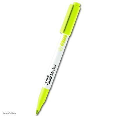 MONAMI Fabric Marker 470 - popisovač na světlý textil - limetkově žlutá / brush