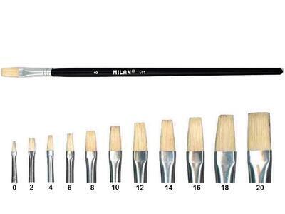 Štětec Milan série 501 - plochý  č. 8 - 1