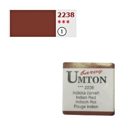 Akvarelová barva 2,6ml - Indická červeň - 1