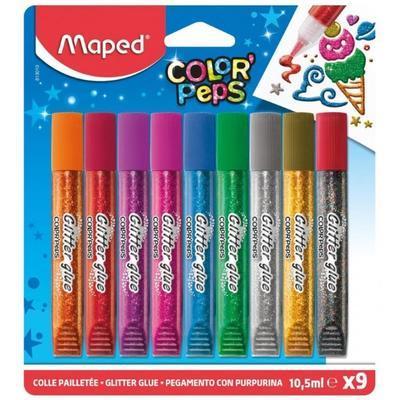 Dekorační lepidlo Maped Glitter Glue 10,5ml - 9 barev