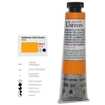 Olejová barva 20ml - Kadmium žluté tmavé/ 3