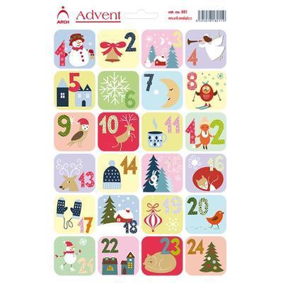 Samolepicí adventní kalendář