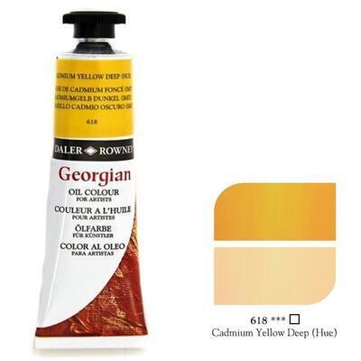 Daler & Rowney Georgian Oil 38ml - Cadmium Yellow Deep 618, olejová barva - 1
