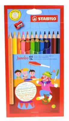 Stabilo Pastelky Jumbo 1877 - 12 barev + ořezávátko - 1