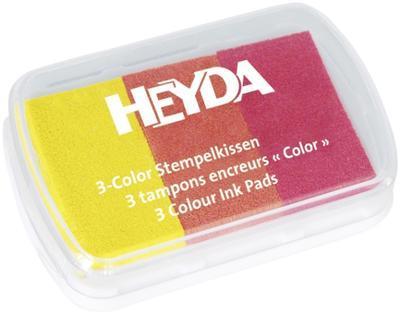Razítkovací polštářek tříbarevný - žlutý, oranžový, červený