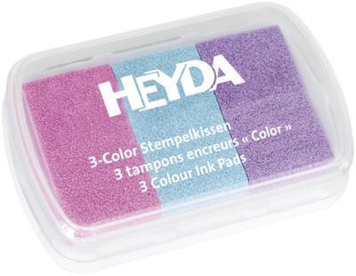 Razítkovací polštářek tříbarevný - růžová, tyrkysová, fialová