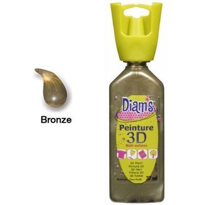 Diam's 3D akrylová barva 37 ml - perleťová bronzová - 1