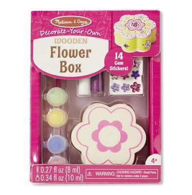 Dřevěná krabička k vymalování a dozdobení - Květina - 1