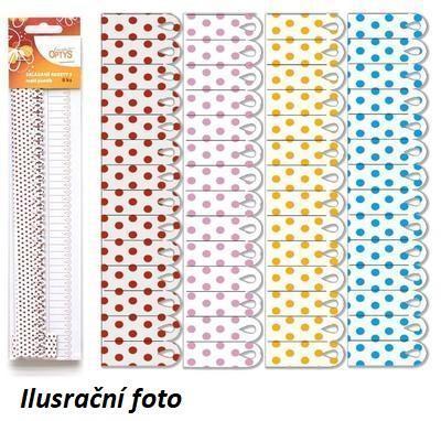 Výřez - Skládané rozety 3, malé, puntík, 8 ks - 1