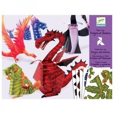 Origami skládačka - Draci - 1