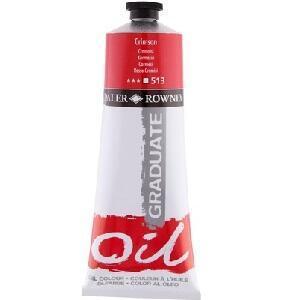 Daler & Rowney Graduate Oil 200 ml - crimson 513 - 1