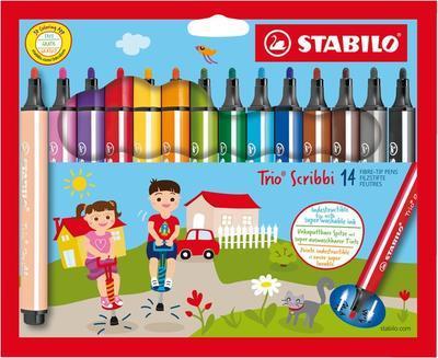 Stabilo Trio Scribbi 368/14-01 Fixy odpružený hrot - 14 ks