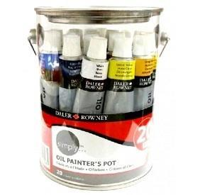 Daler & Rowney Simply Oil Painter´s Pot - 20x12ml