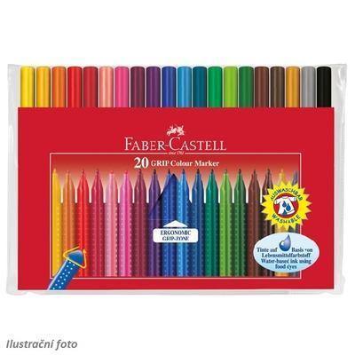 Faber-Castell Popisovače Grip Colour Marker - sada 20 ks - 1