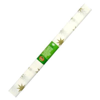 Koh-i-noor Krepový papír 9755/71 - hvězda bílo zlatý