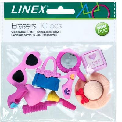 Sada pryží LINEX bez PVC - 10 ks, dětské motivy