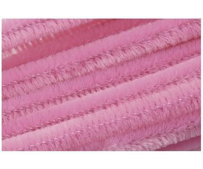 Žinilkový drát průměr 8mm, délka 50cm, 10ks - růžový