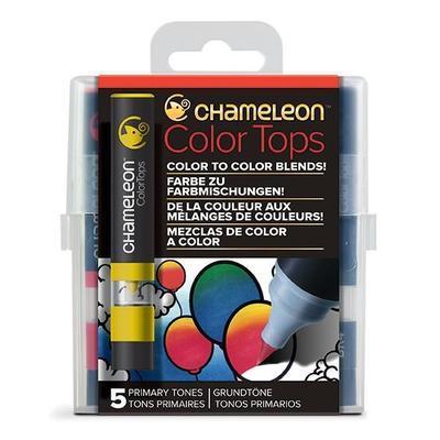 Sada stínovacích fixů Chameleon Color Tops - Základní tóny, 5ks - 1