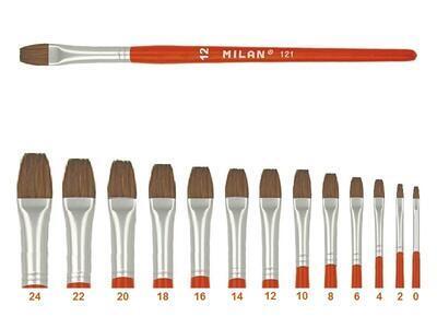 Štětec Milan 121 - plochý lak č.12 - 1