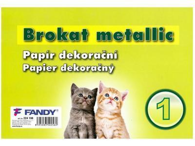 Dekorační papír Brokat Metallic 01 - 1