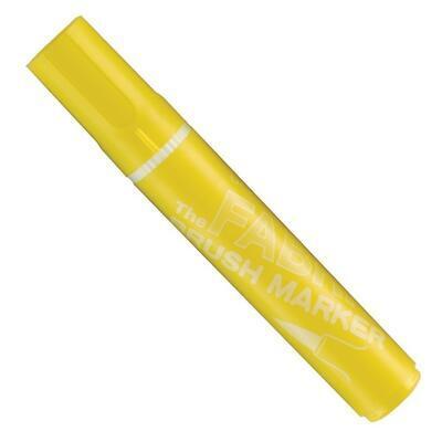 Marvy Popisovač na textil nezažehlovací - Yellow - 1